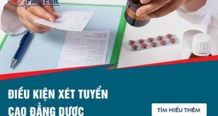 Điều kiện xét tuyển Cao đẳng Dược TPHCM năm 2018
