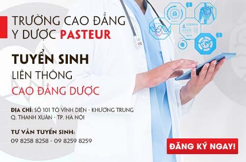 Trường Cao đẳng Y Dược Pasteur thông báo tuyển sinh Liên thông Cao đẳng Dược