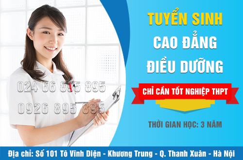Địa chỉ tuyển sinh Cao đẳng Điều dưỡng tại Hà Nội