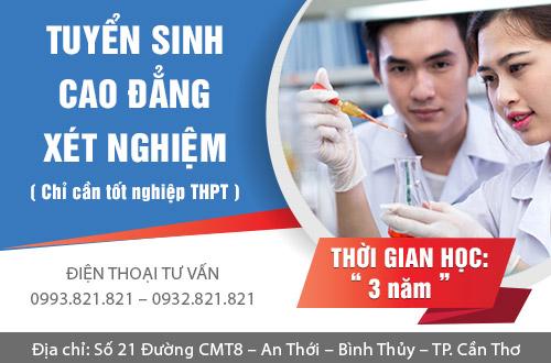 Xét tuyển Cao đẳng Xét nghiệm chỉ cần tốt nghiệp THPT