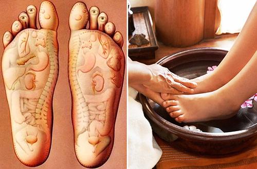Ngâm chân vào nước thuốc chế từ các dược liệu có hiệu quả điều trị trúng phong