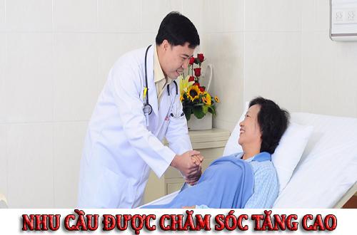Nhu cầu được chăm sóc sức khỏe người bệnh ngay càng tăng