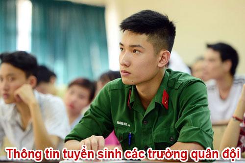 Thông tin tuyển sinh các trường Quân đội năm 2018
