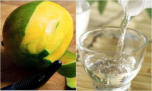 Vỏ xoài và rượu trắng trị đau răng